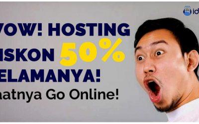 Promo Hosting Diskon 50% Selamanya (Recurring) Di IDHOST